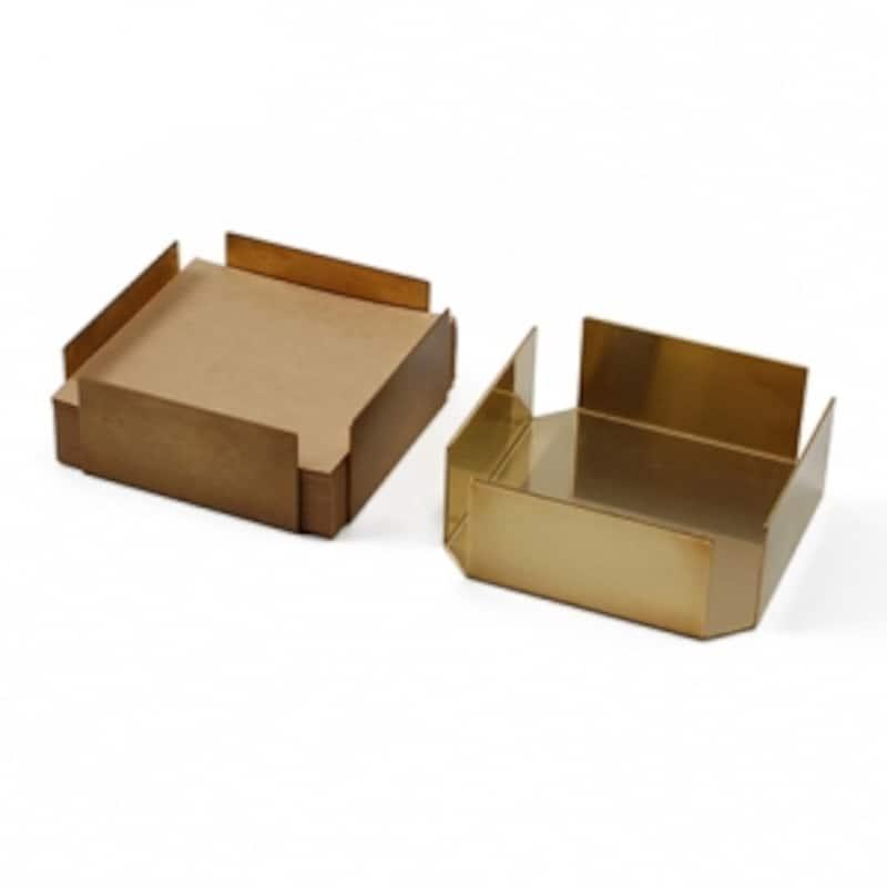 真鍮のシンプルなmucu(ムク)のペーパートレイ