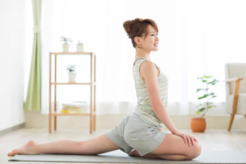 ストレッチも動きながらの瞑想のようなもの。心を落ち着け、身体と向き合う時間を大切に。