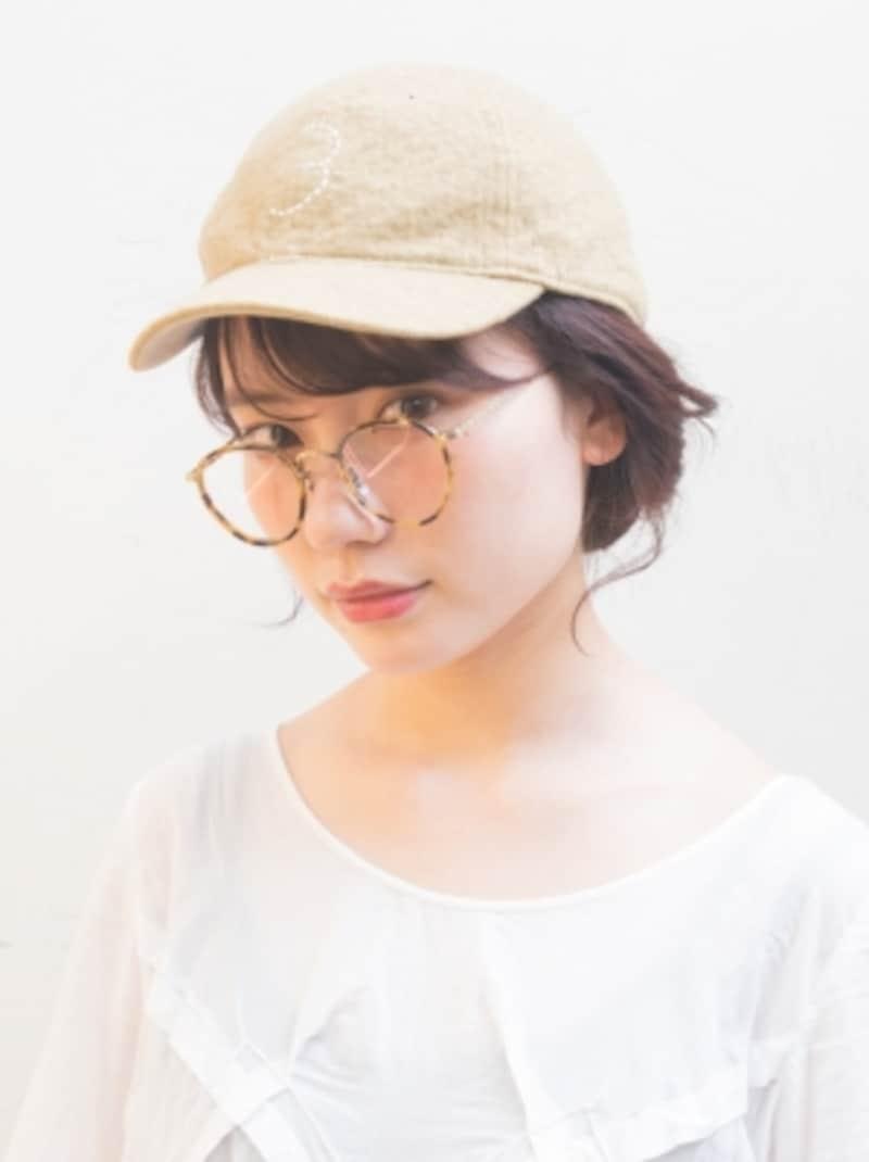 メガネに似合う髪型・正面