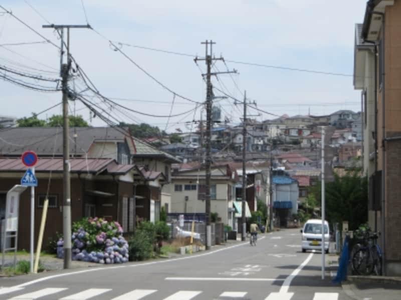 一戸建て中心の住宅地