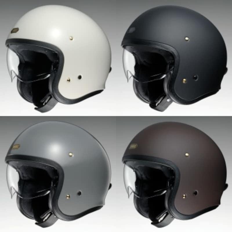 カラー、グラフィックともバリエーション豊富なSHOEIのジェットヘルメット「J・O」