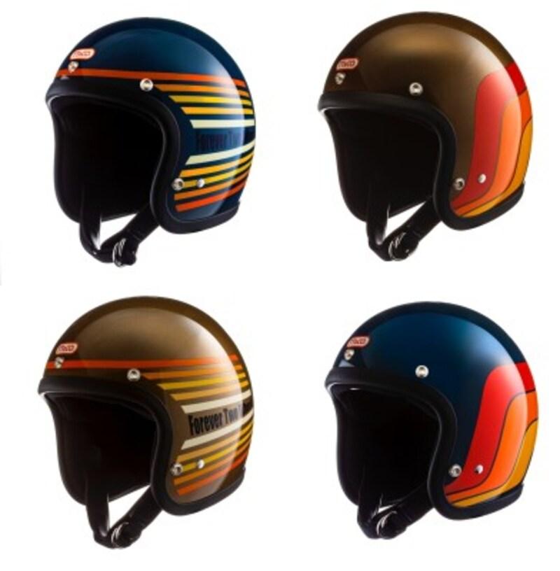 同じく1970年代デザインで彩られたTT&カンパニーの人気ジェットヘルメット「スーパーマグナム」。