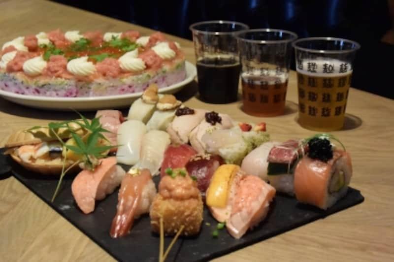 寿司フェスで提供される寿司