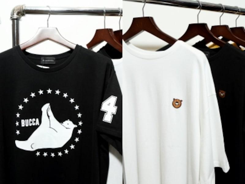 Tシャツ類が充実。ぽっちゃりな体型に似合うカワイらしいテイストが特徴的です。
