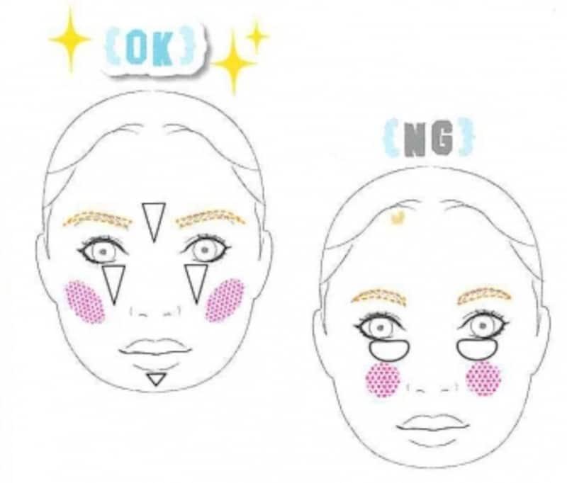 OKメイクに変えれば、すっきりして小顔効果も!