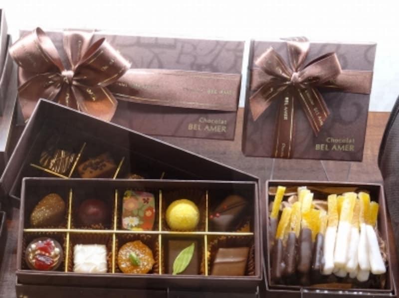 「ショコラベルアメールundefined東京ガーデンテラス紀尾井町店」で買える「ショコラギフト」や「オランジェット」