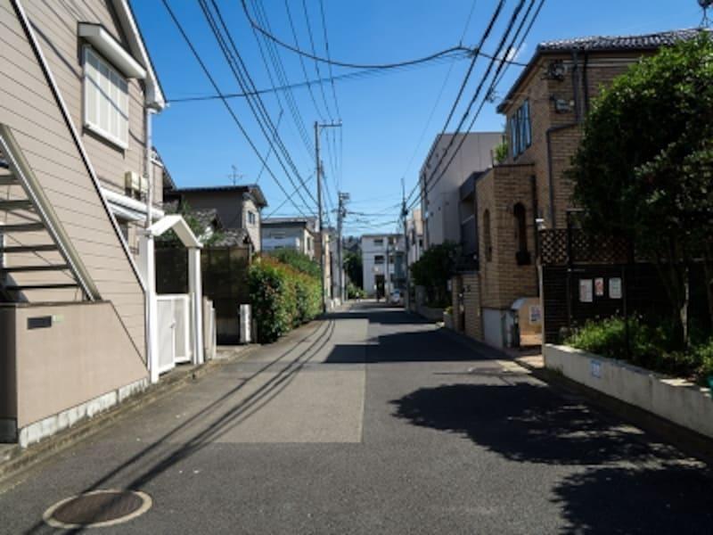 第二種低層住居専用地域の町並み