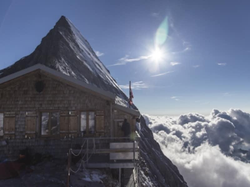 アイガーのミッテルレギ小屋(標高3,355m)