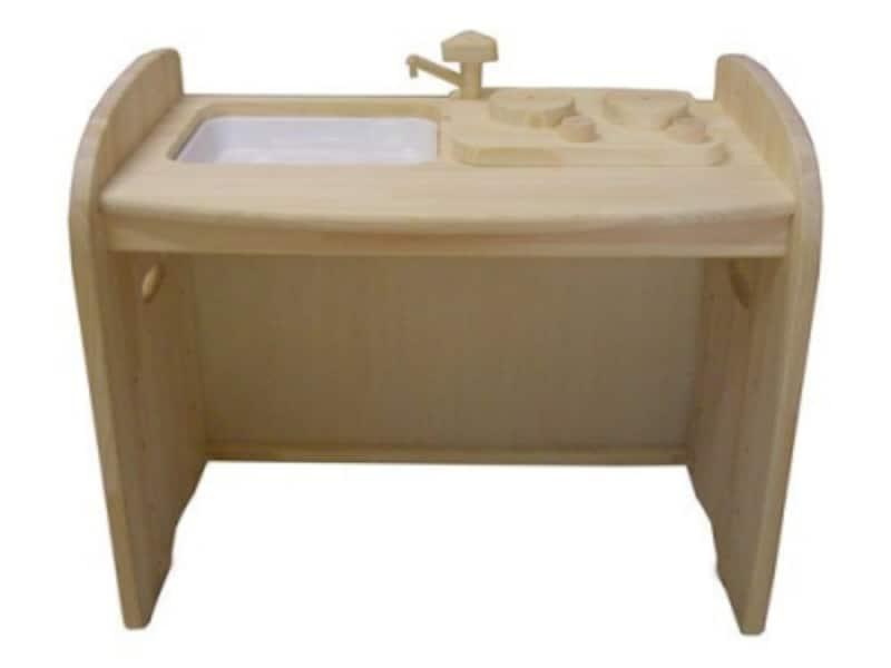 木遊舎/ひのきキッチンテーブル(白木)(18900円)