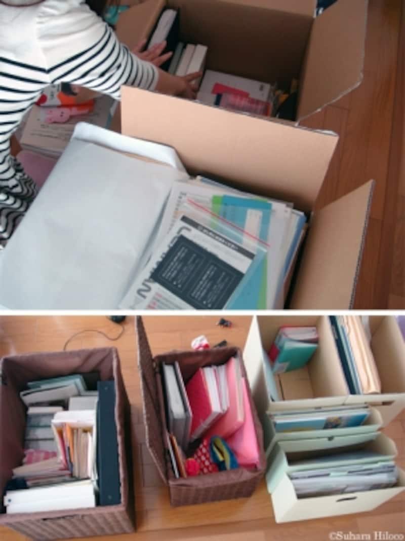 溜まった書類の整理収納
