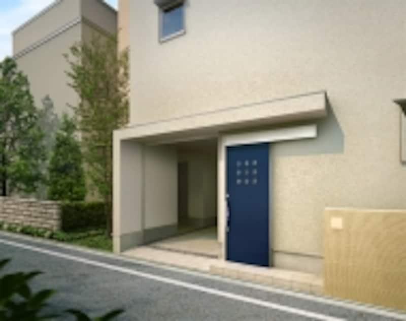 狭い敷地でもプランニングしやすい引き戸(スライディングドア)。デザインバリエーションも豊富に揃う。[エルムーブ]undefinedLIXILundefinedhttp://www.lixil.co.jp/