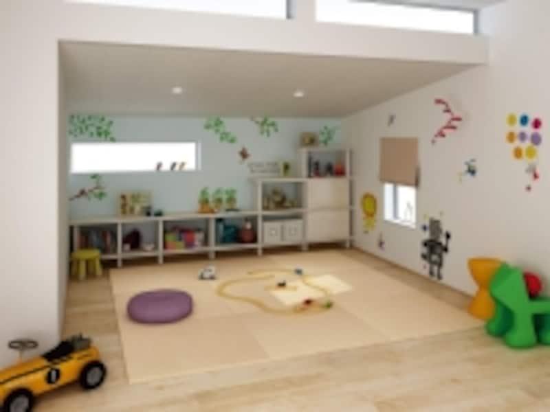 直接床に座ることができる畳スペースはさまざまなシーンで活躍する。置き敷きタイプであれば、模様替えもしやすい。[インテリア畳ここち和座undefined置き敷きタイプ]undefinedDAIKENundefinedhttp://www.daiken.jp/