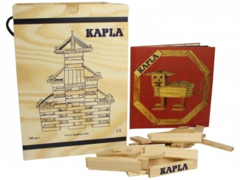 KAPLA/カプラ280(白木)+デザインブック(中級・赤)undefined木箱入り(16000円)