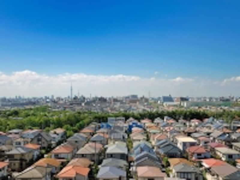 大都市郊外の住宅地