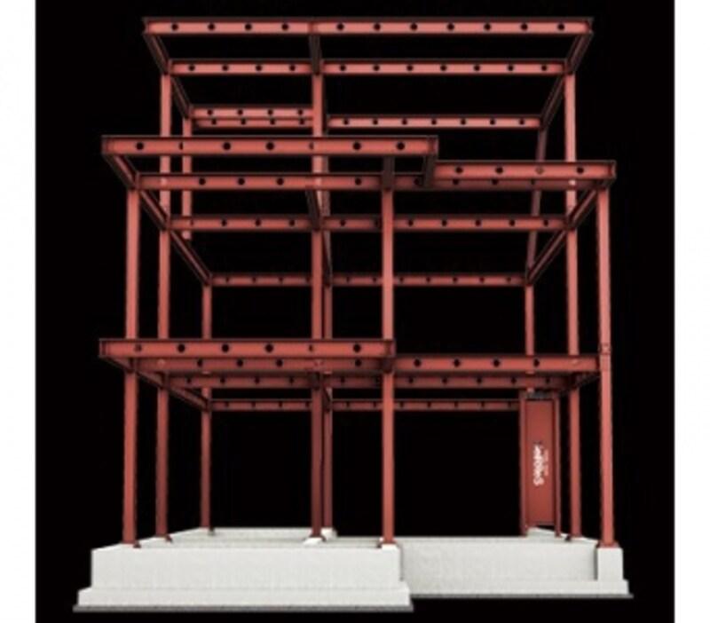 1階に「サイレス」が搭載された、重鉄制震・システムラーメン構造