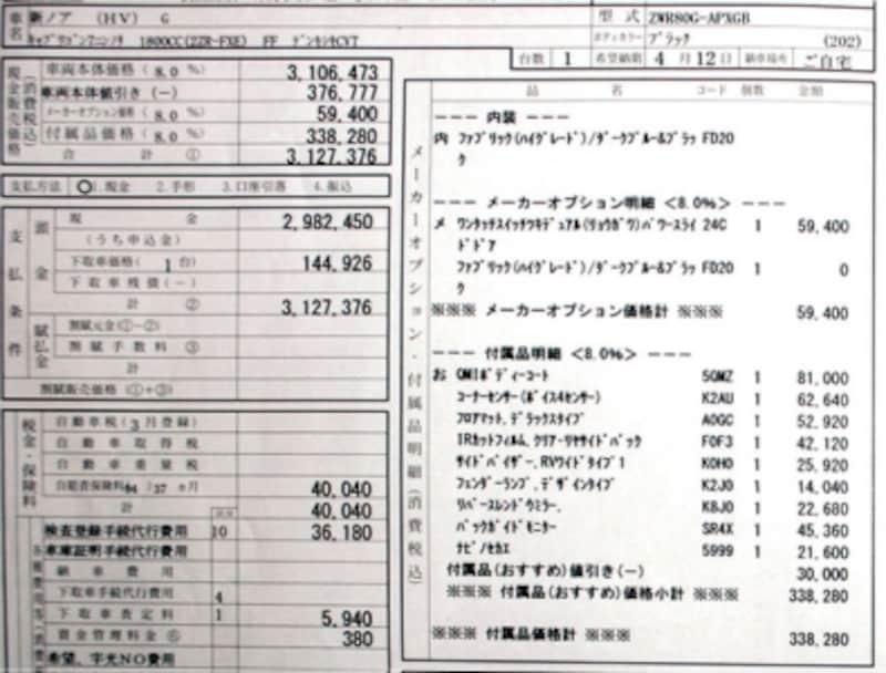 トヨタ・ノアハイブリッドG(7人)