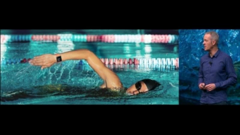 50メートルの耐水性能を備える