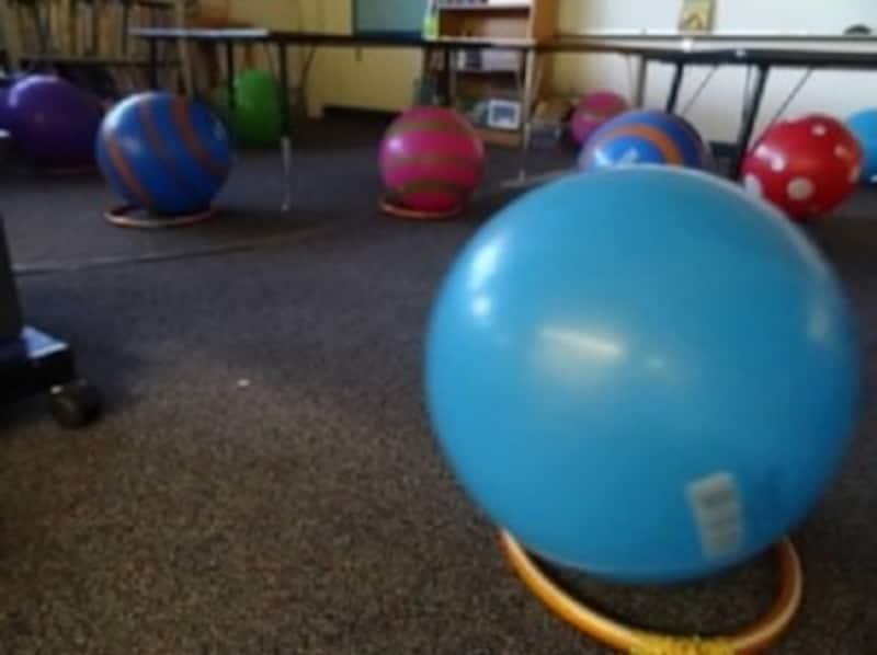 ボールが椅子教室