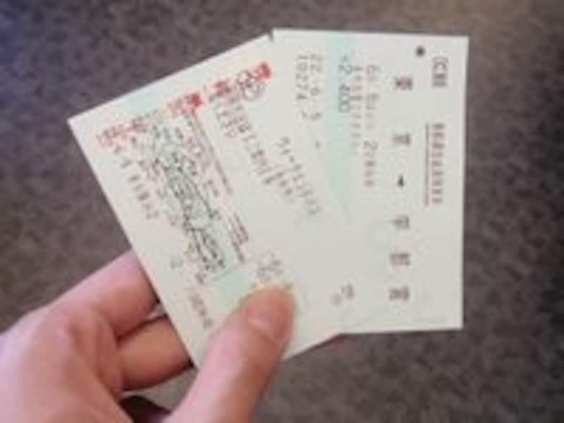 ウィークエンドパス(関東圏を中心に伊豆、長野、山形、新潟方面まで週末2日間乗り放題のJRのお得切符)と別途購入が必要な特急券