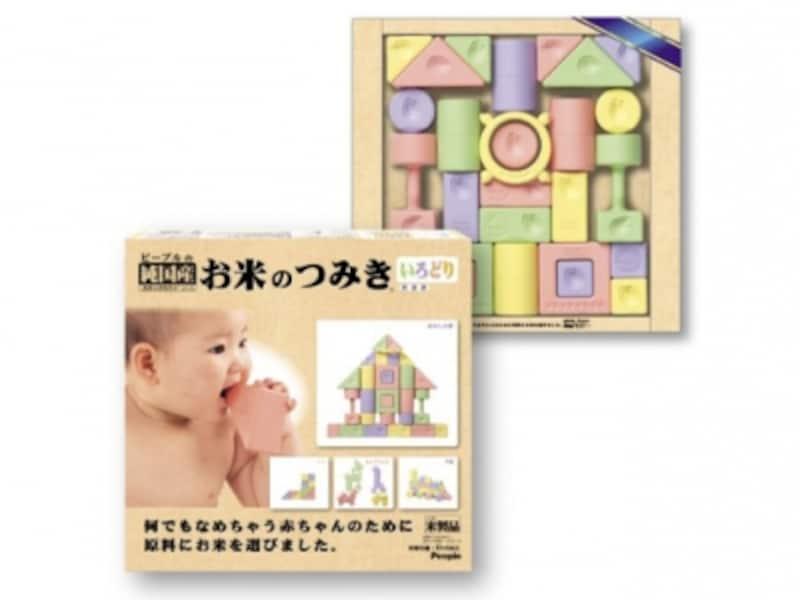 ピープル/お米のシリーズお米のつみきいろどり(10584円)