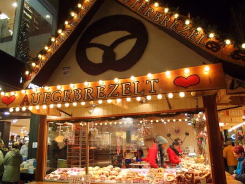 ドルトムントのクリスマスマーケットに行ったら買いたい実演販売のプレッツェル