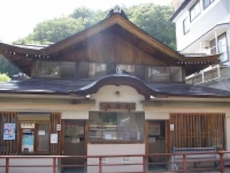 外湯のひとつ、「大師湯」は、慈覚大師円仁という有名なお坊さんゆかりの湯