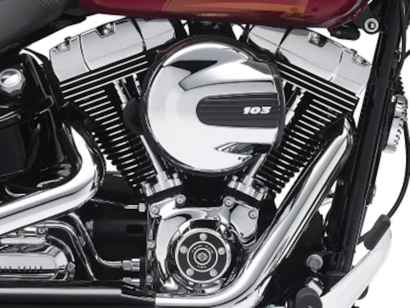 排気量1,690ccのツインカム103エンジンが全モデルに搭載