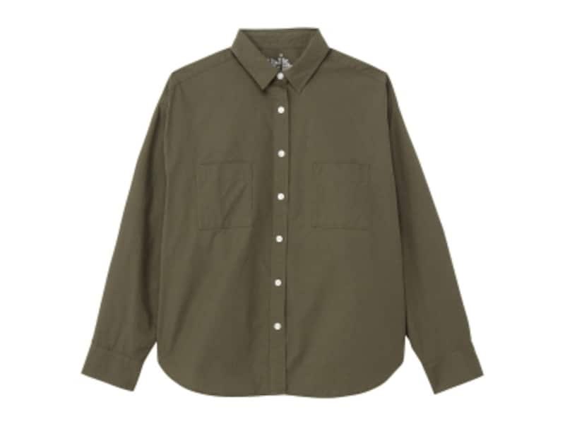 無印良品「オーガニックコットン洗いざらしワイドシャツ」3686円