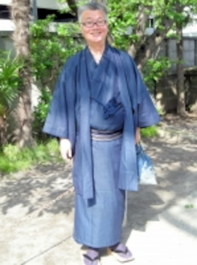 大島紬のアンサンブルでオシャレに