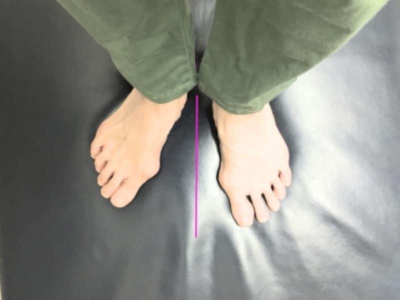 歪みの強い人は意識をしてしっかり両足を揃えようとすると下肢に違和感を覚える人もいます