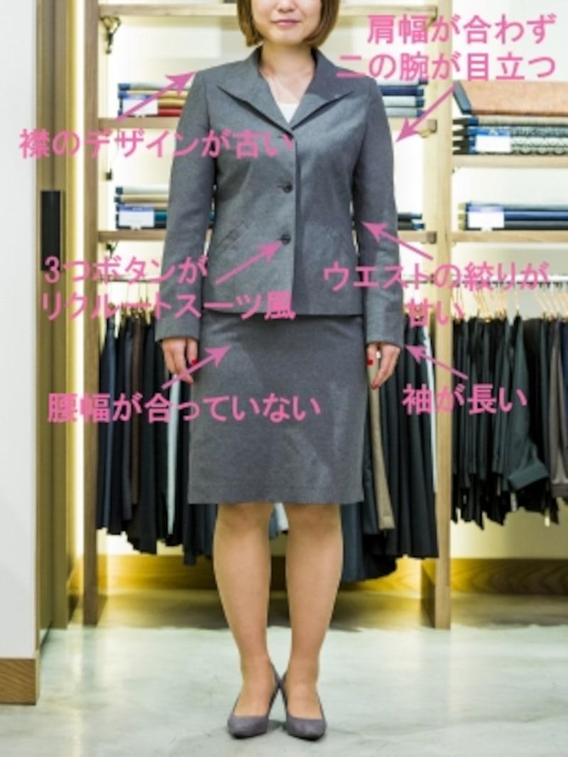 10年前のスーツの問題点