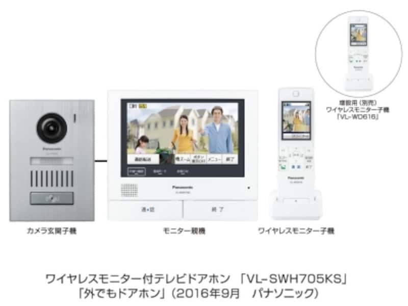 ワイヤレスモニター付テレビドアホンundefinedVL-SWH705KS