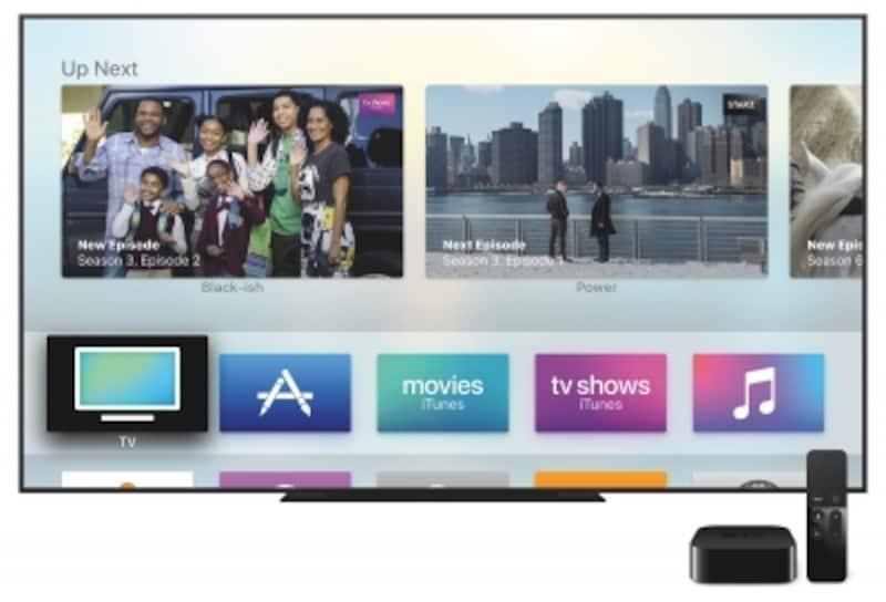 AppleTVと大型テレビの組み合わせ