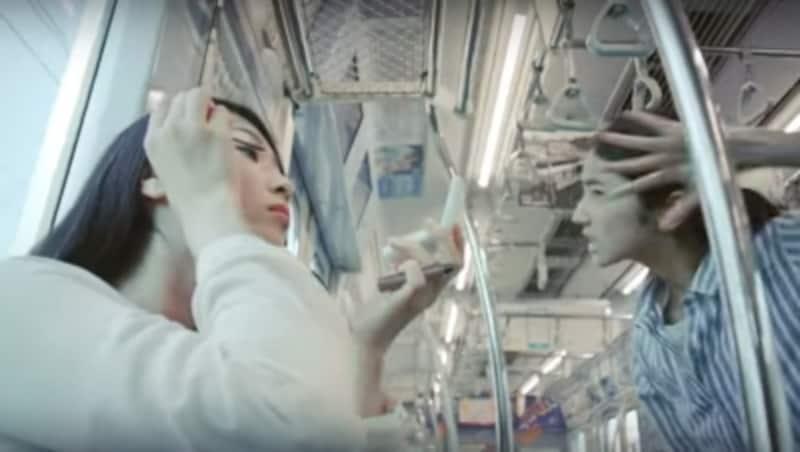 東急電鉄undefinedわたしの東急線通学日記undefined車内化粧(マナーダンス篇)copyright東急電鉄