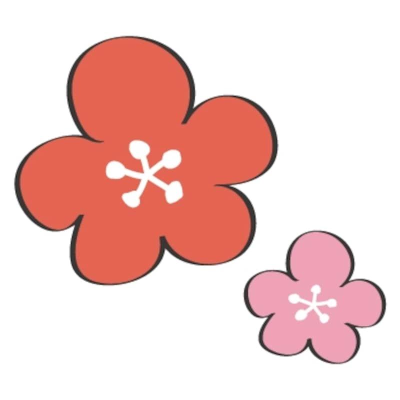 梅の花のイラストです。