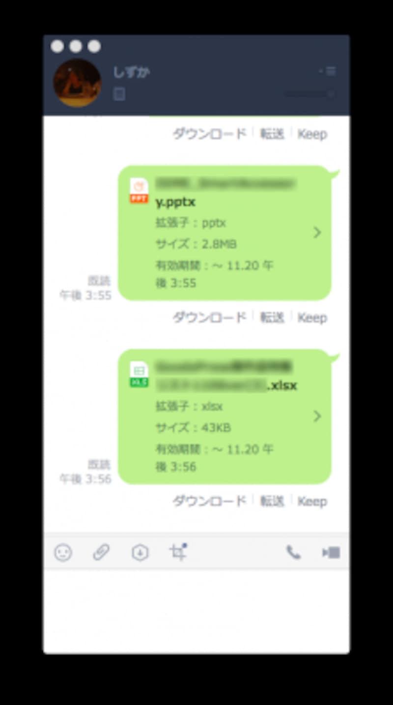 送信すると、ファイルの基本情報や閲覧期限が表示される