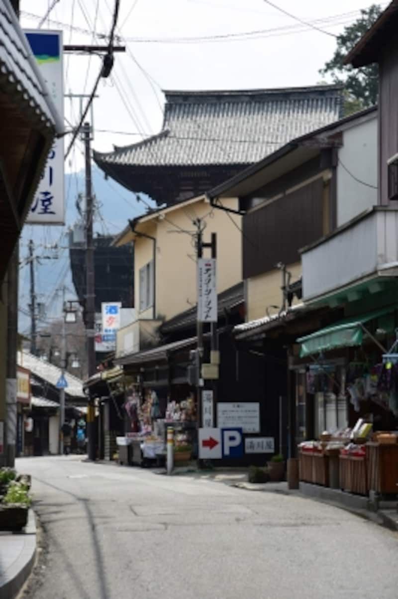 この細い道が、実は奈良県道15号線