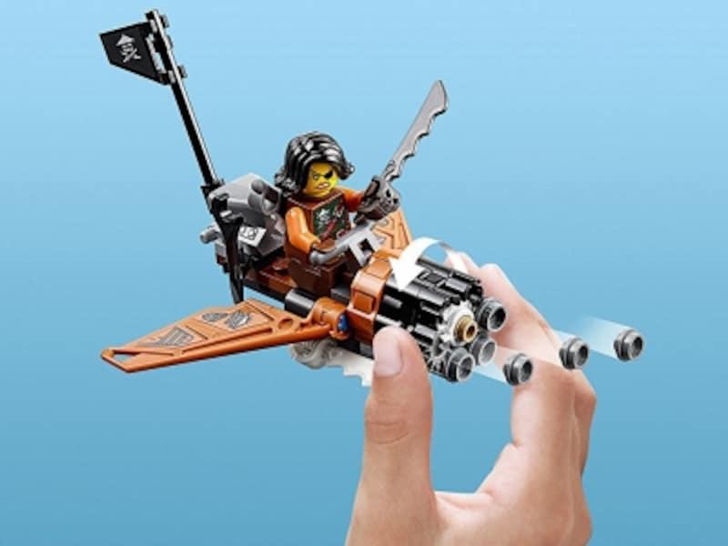ドラゴンと空中戦を繰り広げる天空のブラスター