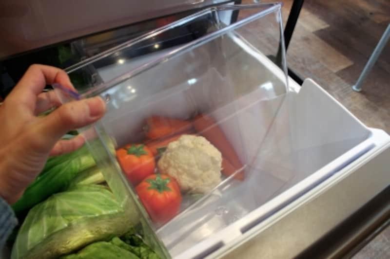 これが野菜室のシールドボックス