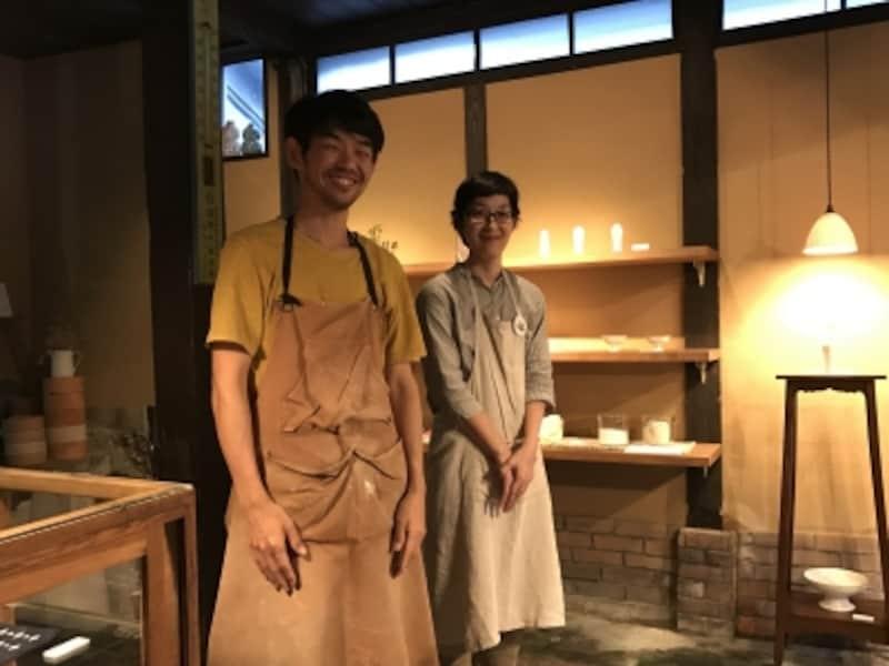 今村肇さんと奥様の麻希さん。店は主に麻希さんの担当。