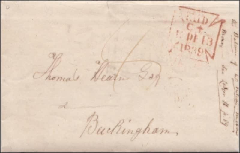 書状4セント時代の郵便物