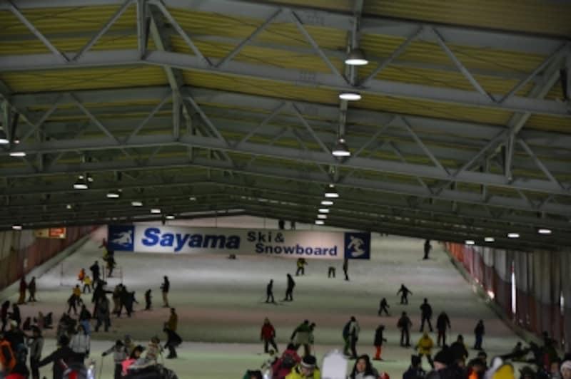 狭山スキー場の屋内ゲレンデ