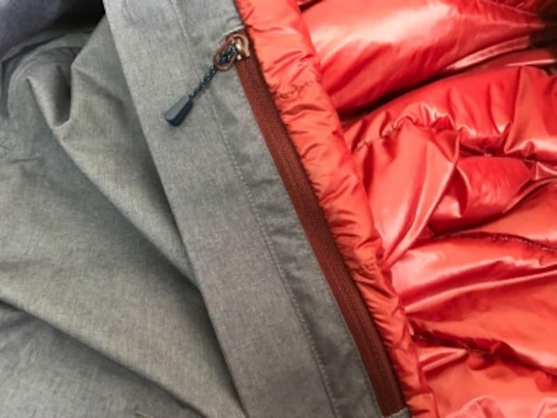 縦の裏側にちょっとしたポケットがついています。雨が入りにくい部分なので自己責任ですが携帯電話を入れてもよいかも