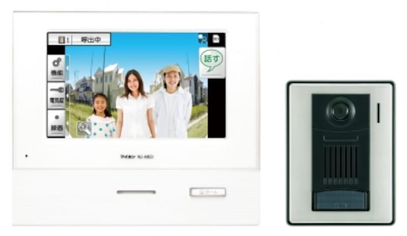訪問者を動画録画できるカラーモニター付きのインターホン