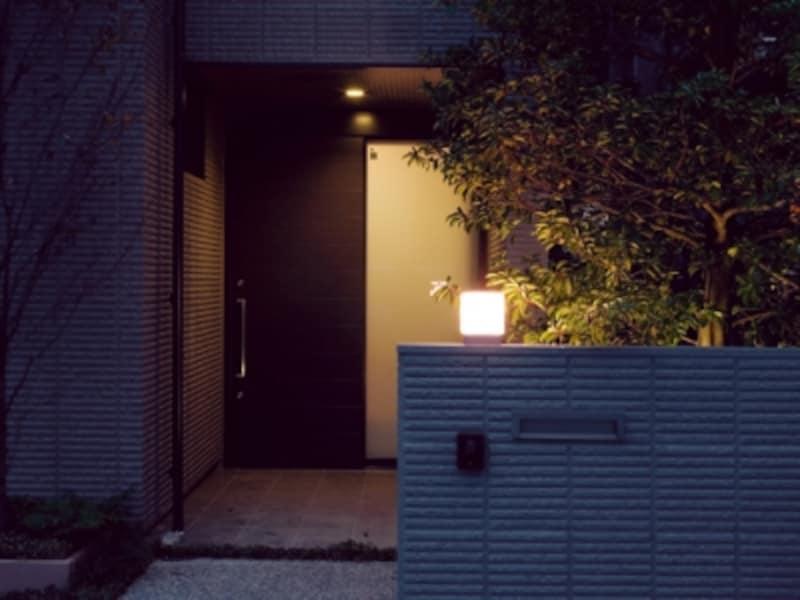 在宅を印象づける自動点灯・消灯