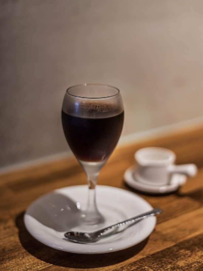 コーヒーのおいしさそのままのコーヒーゼリー