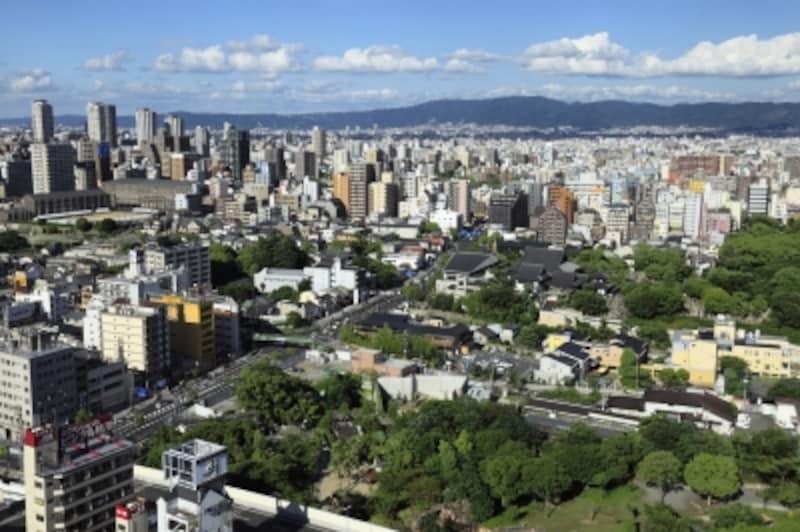 生駒山が見える街並み