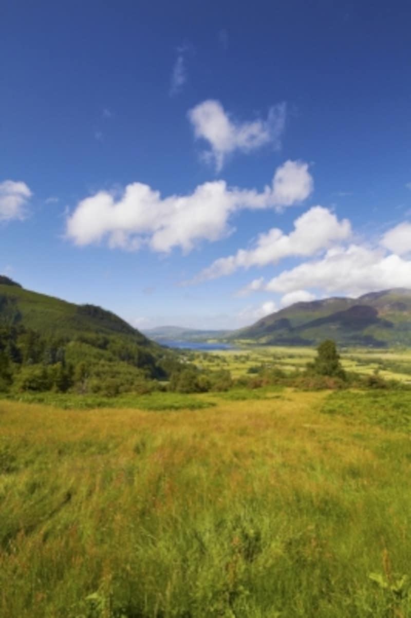 イギリスの湖水地方の自然