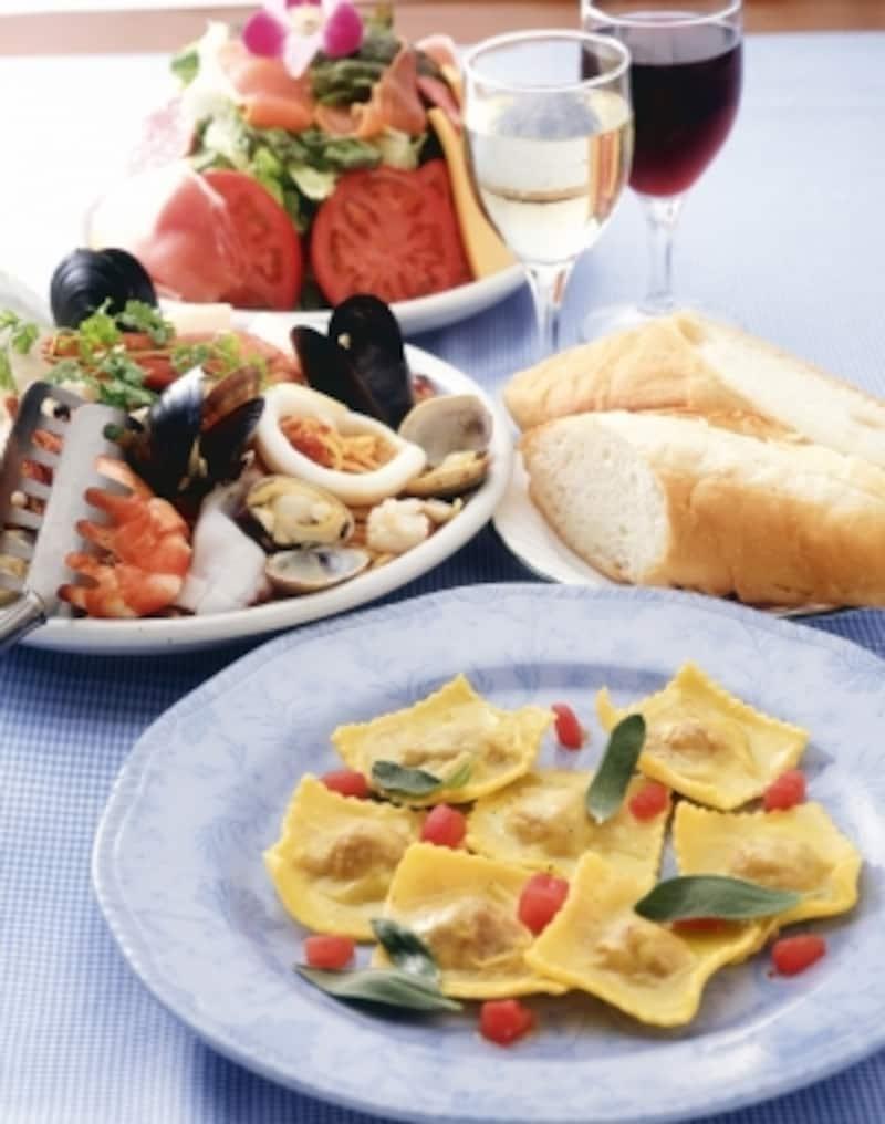 イタリア料理にはイタリア産のお水を合わせてみるのはいかが?