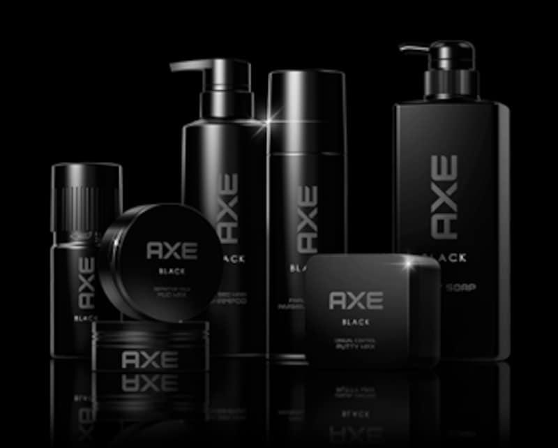 AXEブラックヘアスタイリング剤の他、ボディケアのアイテムが充実している